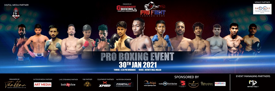 India's Top Emerging Boxers to fight for honors at Pro Boxing Event in Mumbai on 30th January, 2021