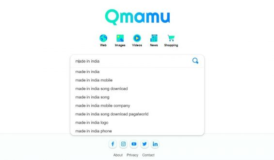 "India's proud moment! 22- year old Indian Gujarati Man has dedicated India's first private search engine ""QMAMU"" to the nation on Republic day"