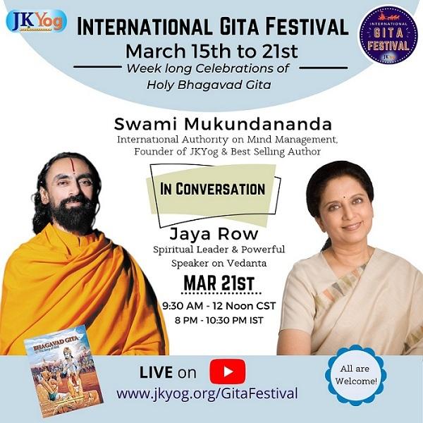 Gita Enthusiasts across the globe participating in the Grand JKYog International Gita Festival