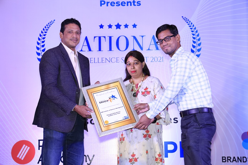 """IIBM Institute of Business Management Edtech company, Awarded as """"Emerging Data Science Institute of the Year"""" by the National Excellence Awards 2021"""